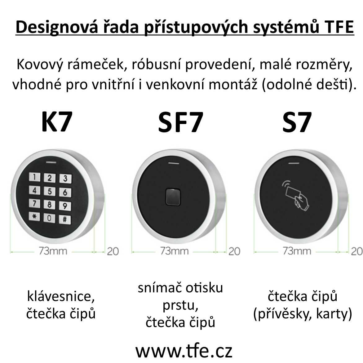 Přístupový systém S7 s čtečkou RFID čipů a karet