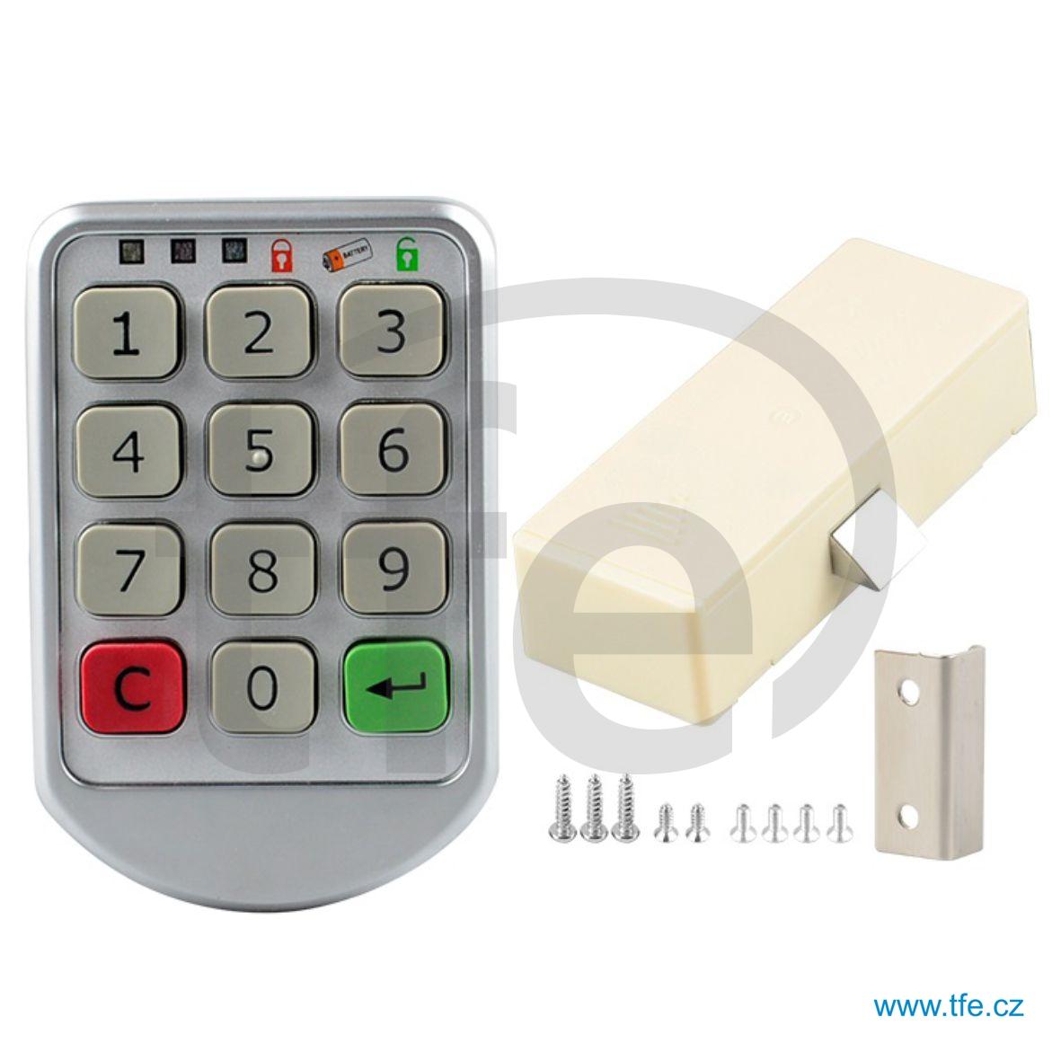 Skříňkový zámek na baterie s číselným kódem CLK1BAT