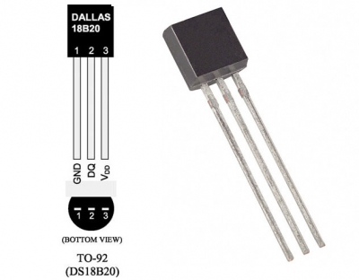 Teplotní čidlo Dallas DS18B20
