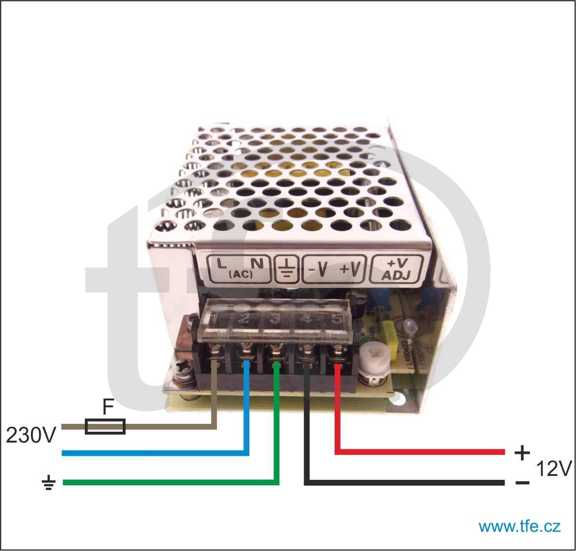 Výkonější zdroj 12V/4,2A MS5012