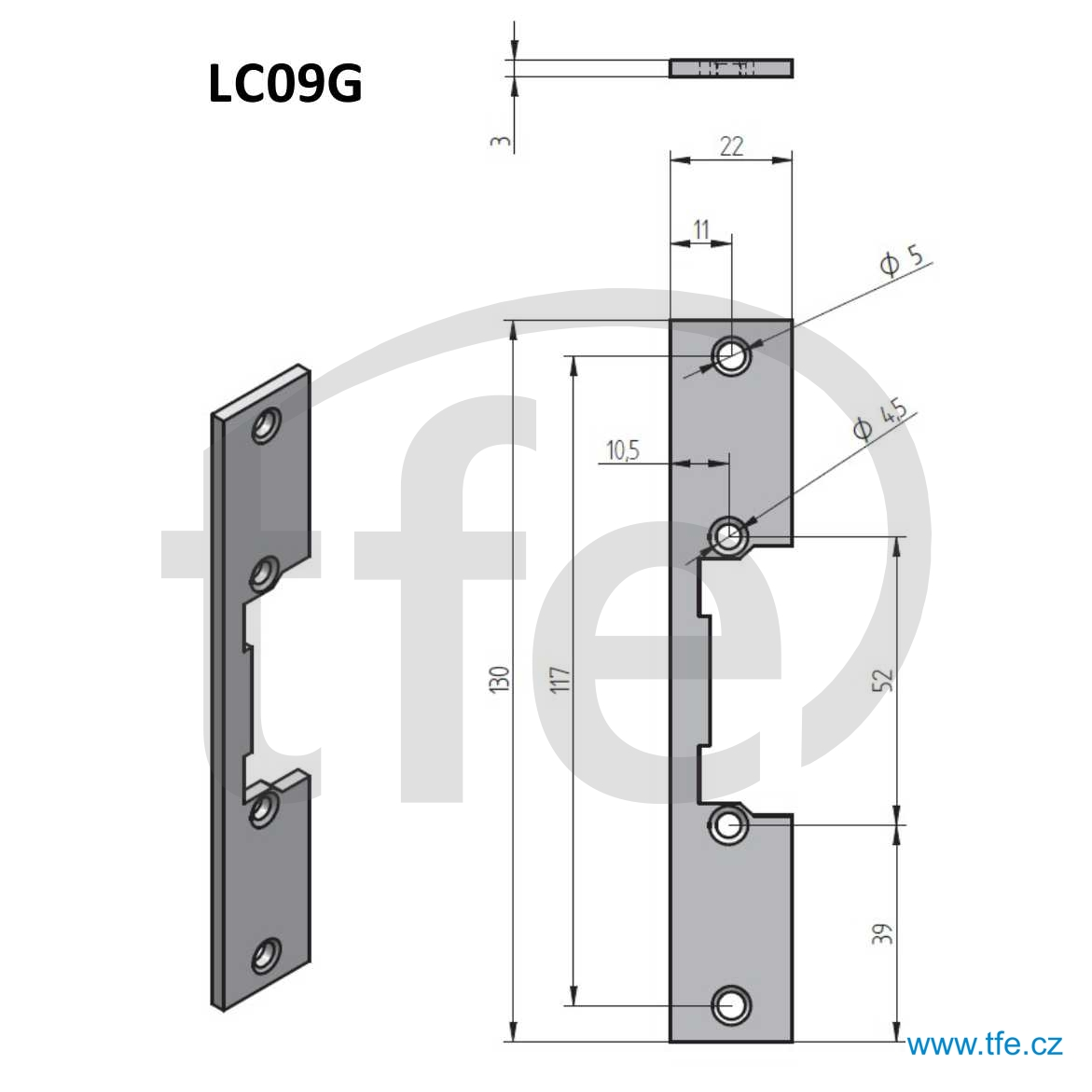 Plech rovný LC09G