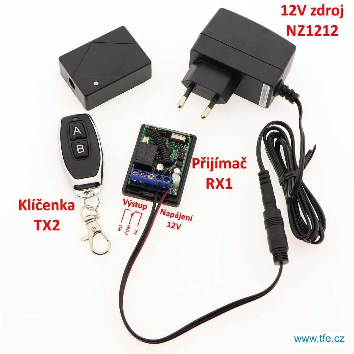 Jednokanálový přijímač RX1